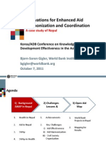 WB Case Study on Aid Harmonization and Cooperation in Nepal - Bjorn-Soren Gigler
