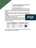Obţinerea culorilor HTML
