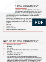 Nature of Risk Management