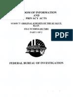 COINTELPRO-KKK PART 1 (FBI FILES ON THE KKK)