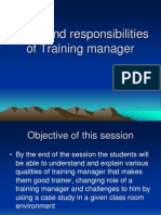 Session 2 Role and Responsibilities and Challenges of Training Manager