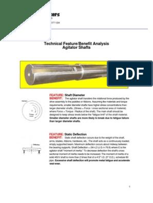Agitator Shaft Deflection | Bearing (Mechanical) | Gear