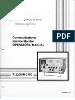 Motorola 2200-2400 Test Set User