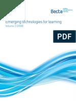 emerging technologies for learning volume 3- ( 2008) - full report