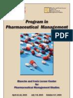Pharma Workshop Spring Fall 2005 Brochure