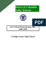Coolidge SHS Restructuring Plan FINAL5.14