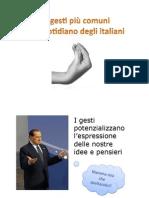 I gesti degli italiani