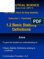 Ship Stability, Basic Stability Definitions