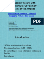 Contemporary Results With Ampullectomy for 29