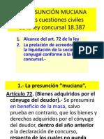 LA PRESUNCIÓN MUCIANA