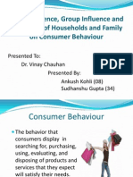 Social Influence, Group Influence and Influences of Households and Family on Consumer Behaviour