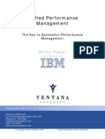 Ventana Research Unified Performance Management White Paper 2009