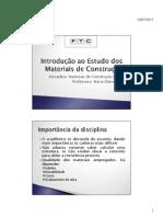 174656_Introdução ao Estudo dos Materiais de Construção 28-07 [Modo de Compatibilidade]