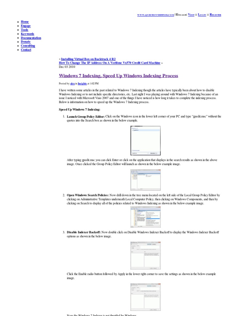 Wonderful Resume Windows 7 Indexing Images - Entry Level Resume ...