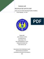 makalah penelitian kuantitatif.