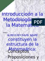 Introducción a la Metodología de la Matemática
