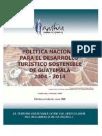 Politica Nacional Desarrollo Turismo Sostenible CAMTUR