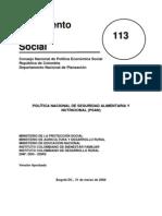 CONPES SOCIAL 113