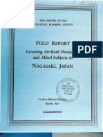 USSBS Report 5, Field Report Covering Air Raid Protection and Allied Subjects, Nagaaski, Japan, OCR
