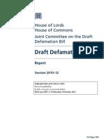 Draft Defamation Bill Report
