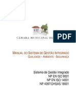 MANUAL DO SISTEMA DE GESTÃO INTEGRADO