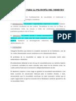 CATEGORÍAS PARA LA FILOSOFÍA DEL DERECHO