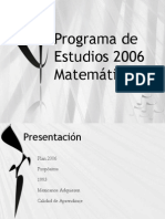 Programa de Estudios 2006 as