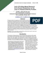 Framework of Problem-Based Research