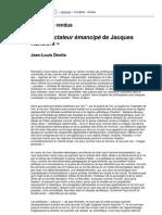 RANCIERE Jaques_LeSpectateurEmancipe