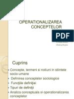 Operationalizare