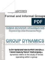 Chapter12.Formal & Informal Organization