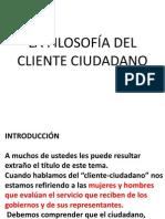 LA FILOSOFÍA DEL CLIENTE CIUDADANO