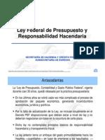 LEY FEDERALDE PRESUPUESTO