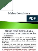 1º aula - Meios de cultura