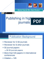 Publishing in High Impact Journal