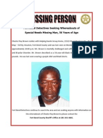 Missing Person in Fort Bend County, Texas