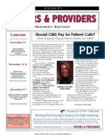 Payers & Providers Midwest Edition – Issue of October 18, 2011