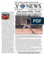 MSBL World Series Daily News - Oct 17 2011