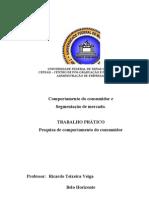 Relatório Final - Trabalho disciplina comportamento do consumidor