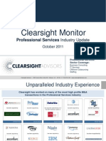 Clearsight Monitor - Professional Services Industry Update