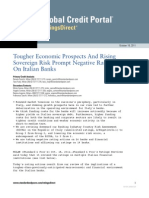 Tougher Economic Prospects and Rising Sovereign Risk Prompt Negative Rating Actions on Italian Banks