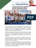 El Partido Conservador afirma respaldo y honestidad de Temístocles Ortega