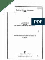 IGNOU FEG-02 Solved Assignment 2011