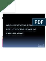 Organizational Redesign at BPCL