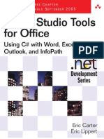 visual studio 2005 tools for office using c# and vb net