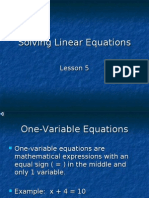 Algebra 1 > Notes > YORKCOUNTY FINAL > Unit 2 > Lesson 5 - Solving_Linear_Equations