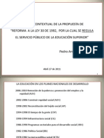 Contextualización Reforma Ley 30