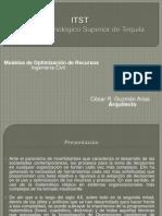 Modelos De Optimización de Recursos