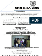 AFICHE BECAS SEMILLA 2012