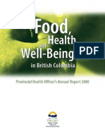 Food Health and Well Being in British Columbia